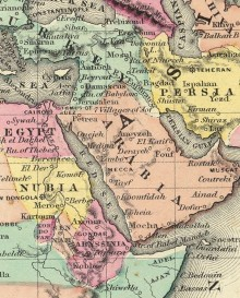The Middle East in 1874, © Cartography Associates, David Rumsey Collection