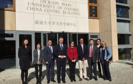 Department members meet the United Nations Association of China